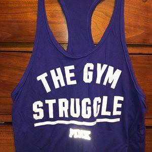 """The Gym Struggle"" razor back tank top"